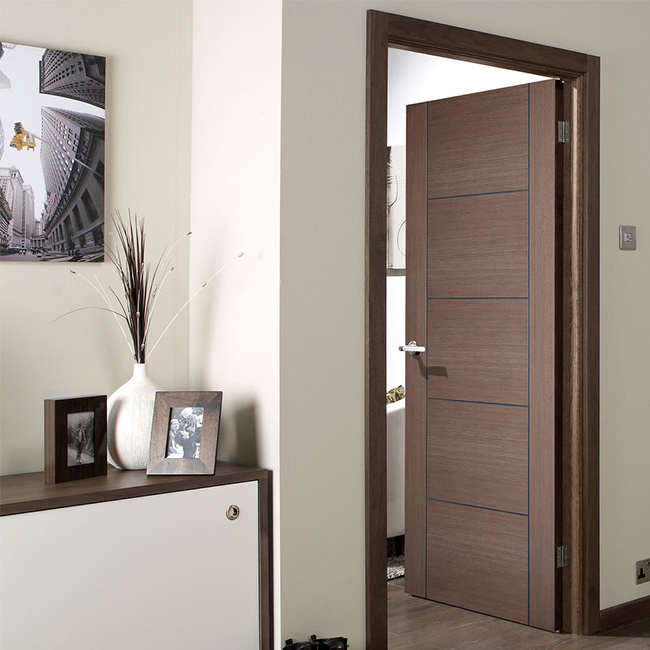 China Interior Bedroom Entry Modern Teak Wood Main Door ...