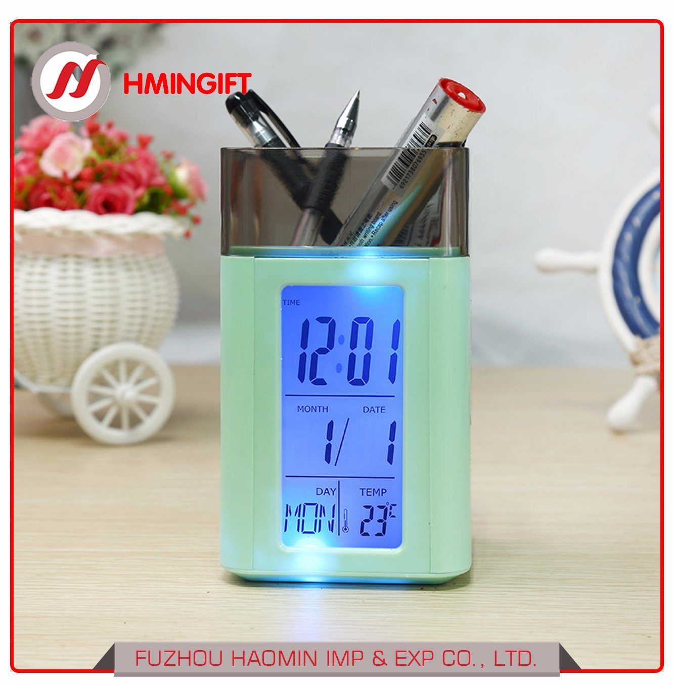 Wholesale Lcd Clock Buy Reliable From Digital Multifunction Temperature Humidity Meter With Alarm Date Week Calender Htc 2 Led Clocks Mesh Pen Pencil Holder Calendar Timer Grid Time Temp Multifunctional Display Container