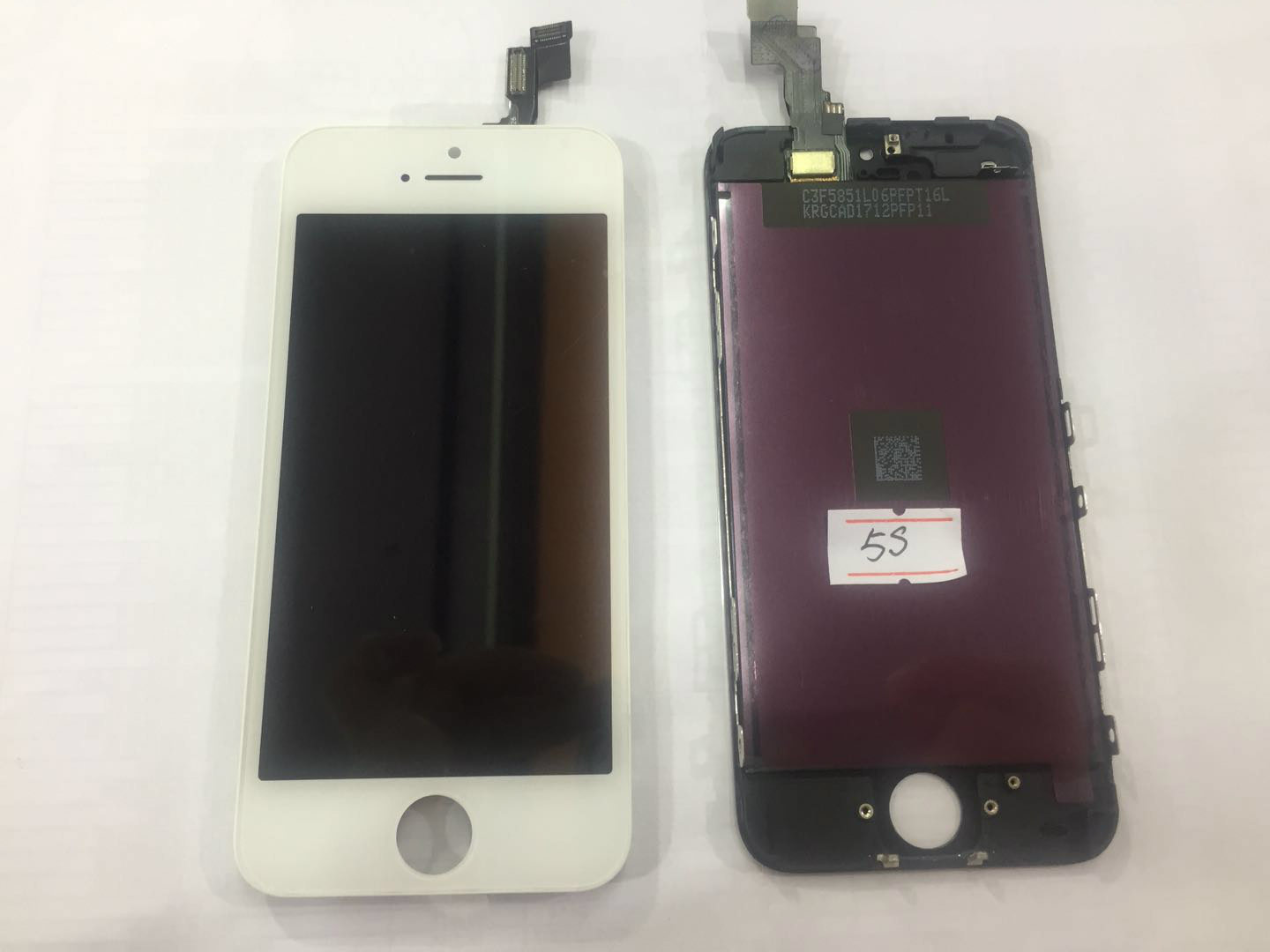 China Compatible LCD touchscreen for iPhone 5S, completely, white, black - China LCD Display, Mobile Phone LCD
