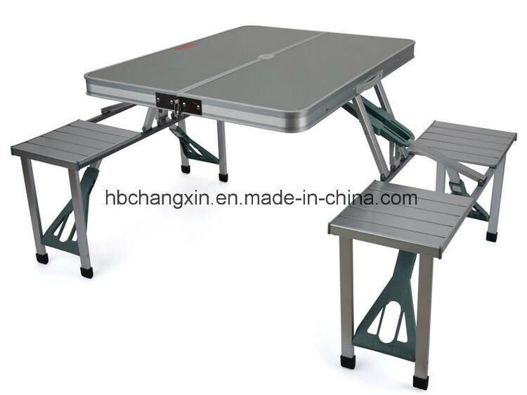 Camping Table And Chairs.Hot Item Aluminium Folding Camping Outdoor Bbq Picnic Table Chairs Set