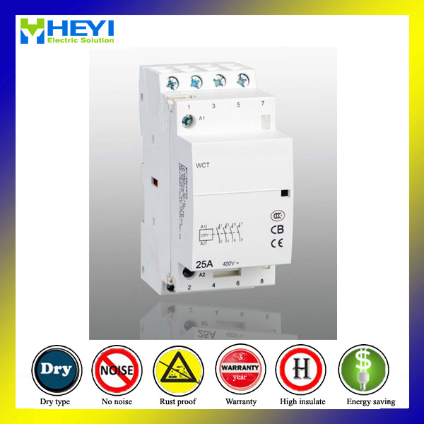Household Electric Contactor 25A 4pole Electrical Type 2no 2nc 50Hz