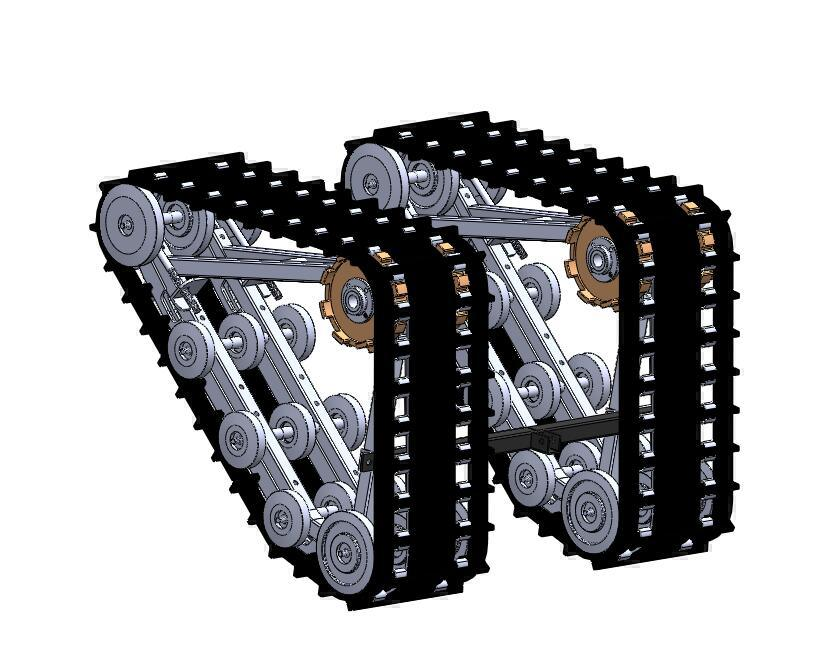 China 320atv Rubber Track System With Front Plastic Sled