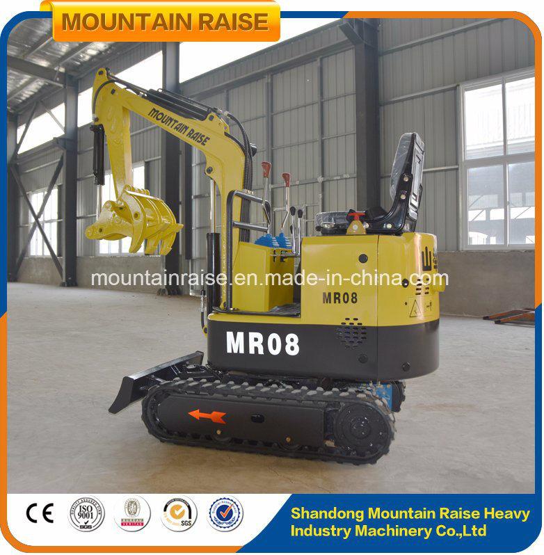 Super China Lower Price 0.8t Rubber Tracks Mini Bagger Excavator for #GP_92