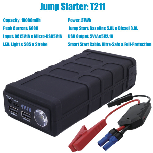 China Motorcycle Battery Booster Jump Starter Pack With Led Light China Jump Starter Battery