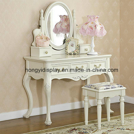 5e2c64a62a Wooden European Style Wash White Bedroom Furniture Nightstand/Bedside Table/Vanity  Set/Dresser