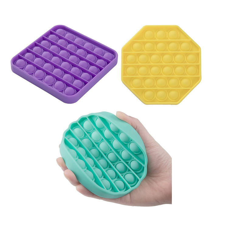 2 Shapes Extrusion Bubble Fidget Sensory Toy Stress Reliever Anxiety Relief Toys