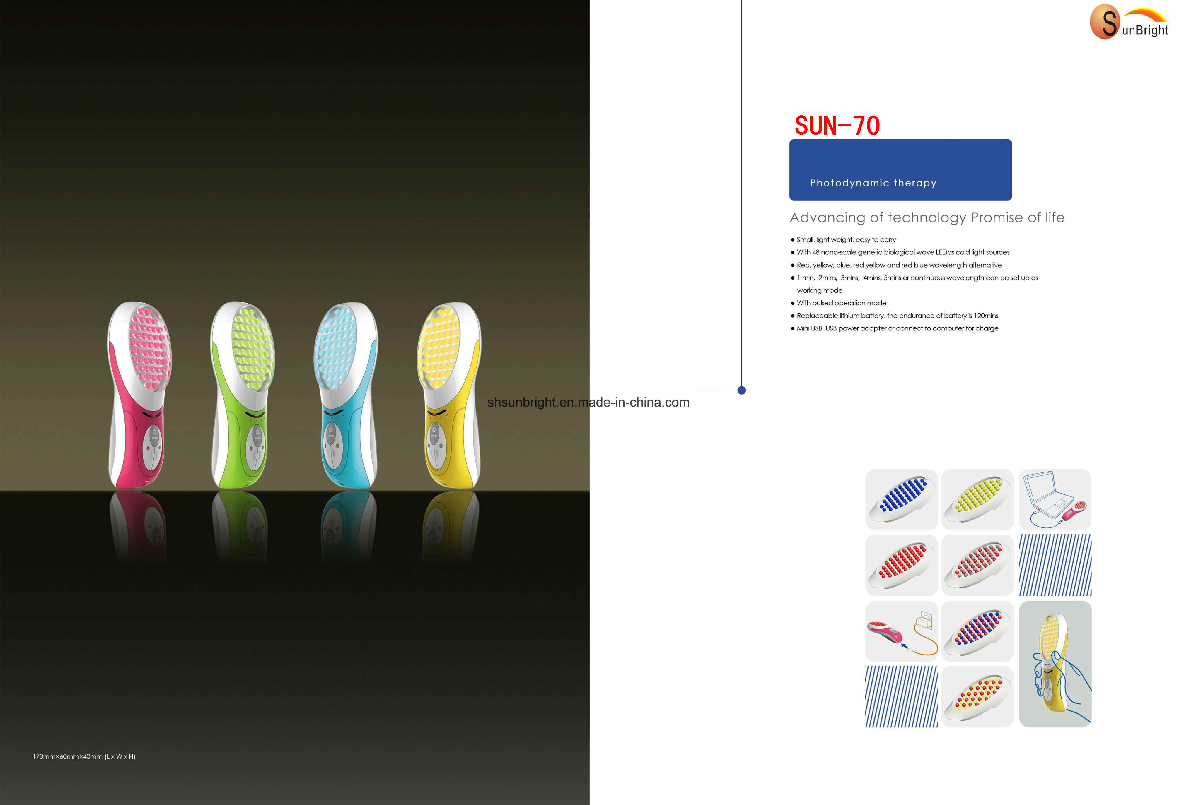 China Photodynamic Therapy Handheld LED Light Therapy PDT Beauty ...