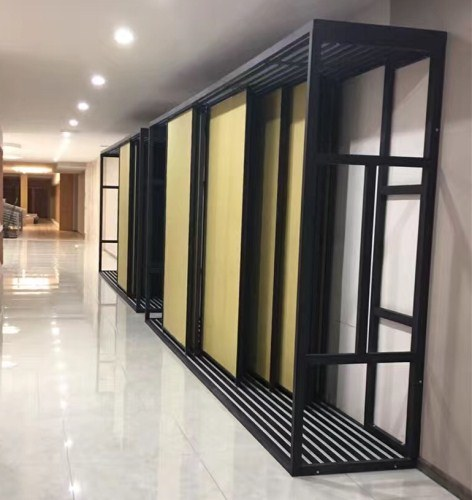 China Stand Wall Ceramic Tile Display Rack For Tile Showroom Display