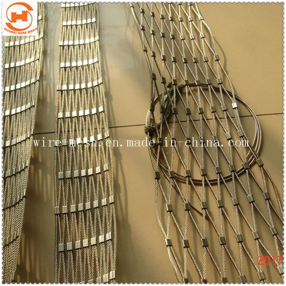 China 100X100 Stainless Steel Flexible Wire Rope Mesh /Woven Rope ...