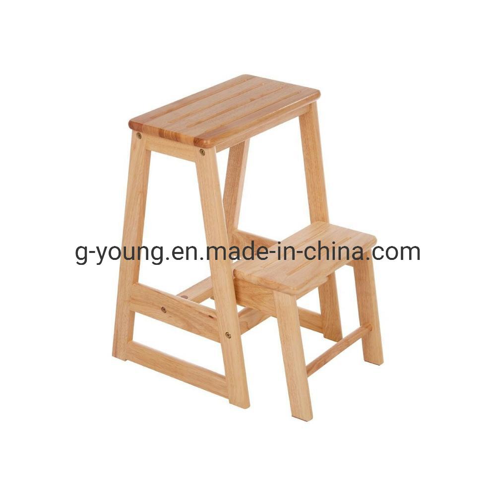 China Sliding Ladder Wood 2 Step Stool