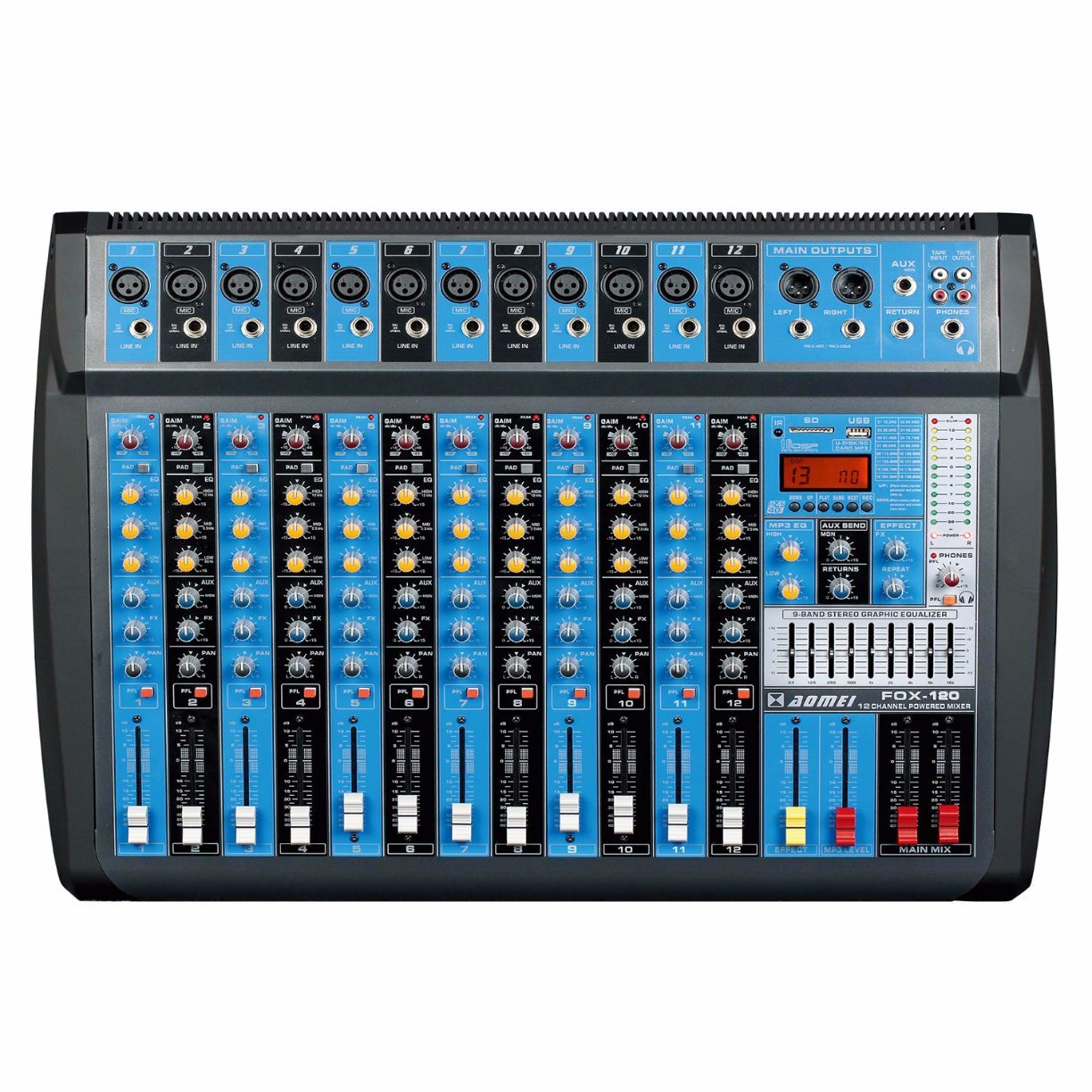 China 3 Band Eq Each Channel Audio Mixer Photos Pictures Made In Equalizer Control