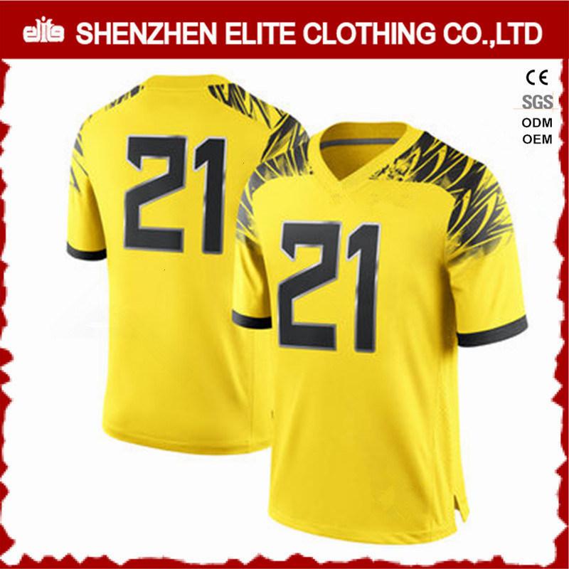 c5b6979a7a0 China Fashion Custom Made Yellow American Football Uniforms Cheap  (ELTFJI-68) - China Custom Logo Football Jersey Yellow, Bulk Sale Football  Training Jersey