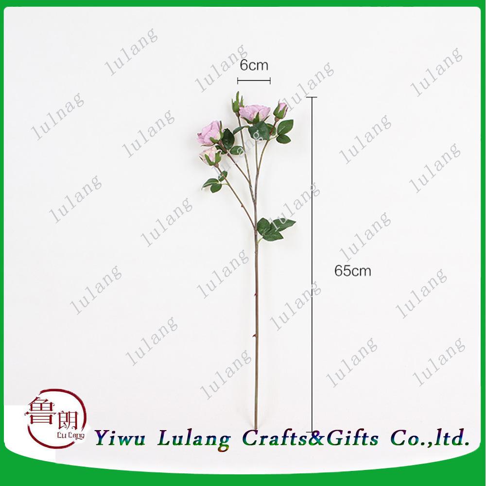 China Fabric Big Pink Single Stem Fake Wholesale Silk Hydrangea