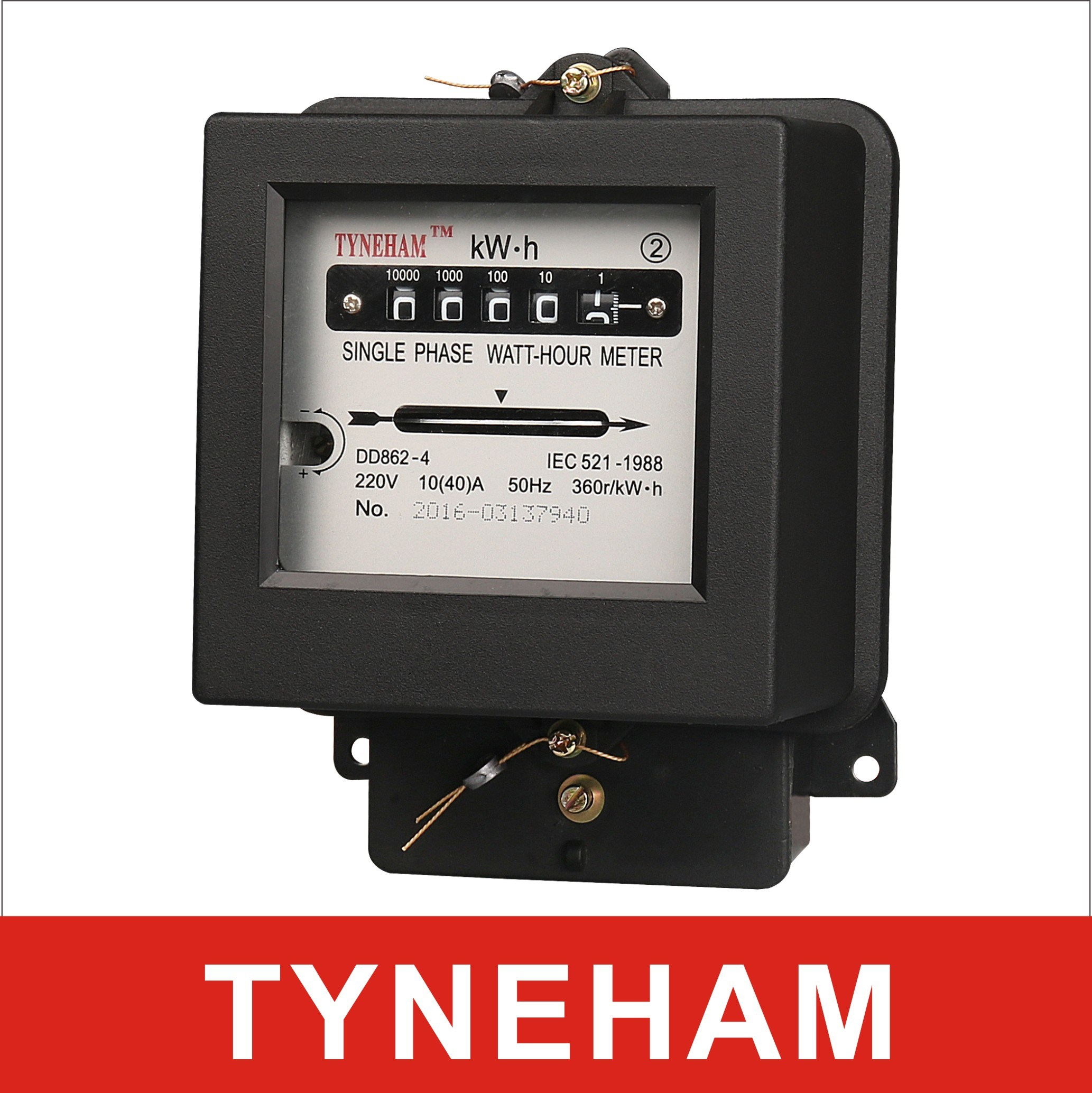 China Dd862-2 Single Phase Two Wire Kwh Meter Mechamical Meter ...