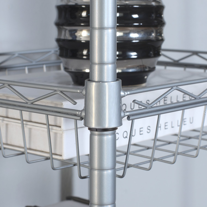 China Supreme 5 Tiers Corner Rack Unit Bathroom Laundry Basket Shelf ...