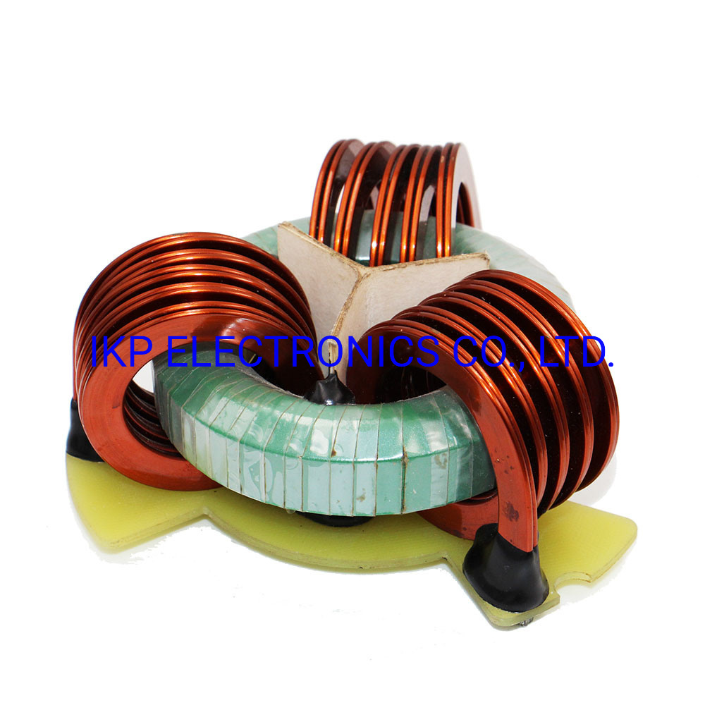 Customized 3 or 4 Phase Flat Wire Vertical Winding High Current Choke Coils for New Energy