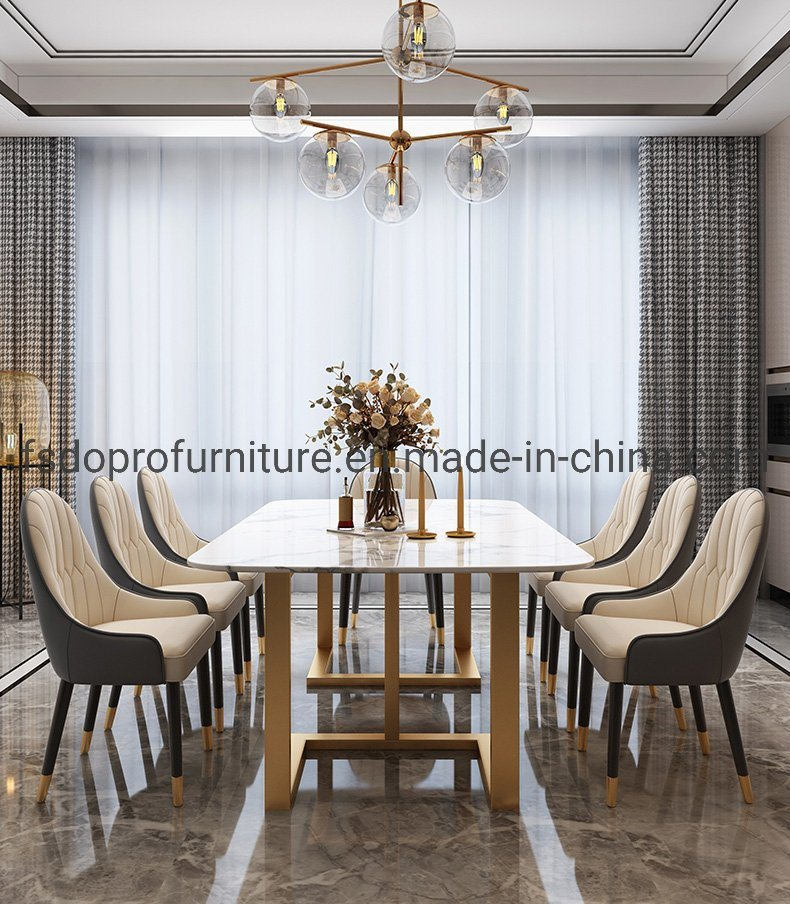 China 2020 Hot Sale Italy Marble Top Simple Dining Furniture Tables Sets Photos Pictures Made In China Com