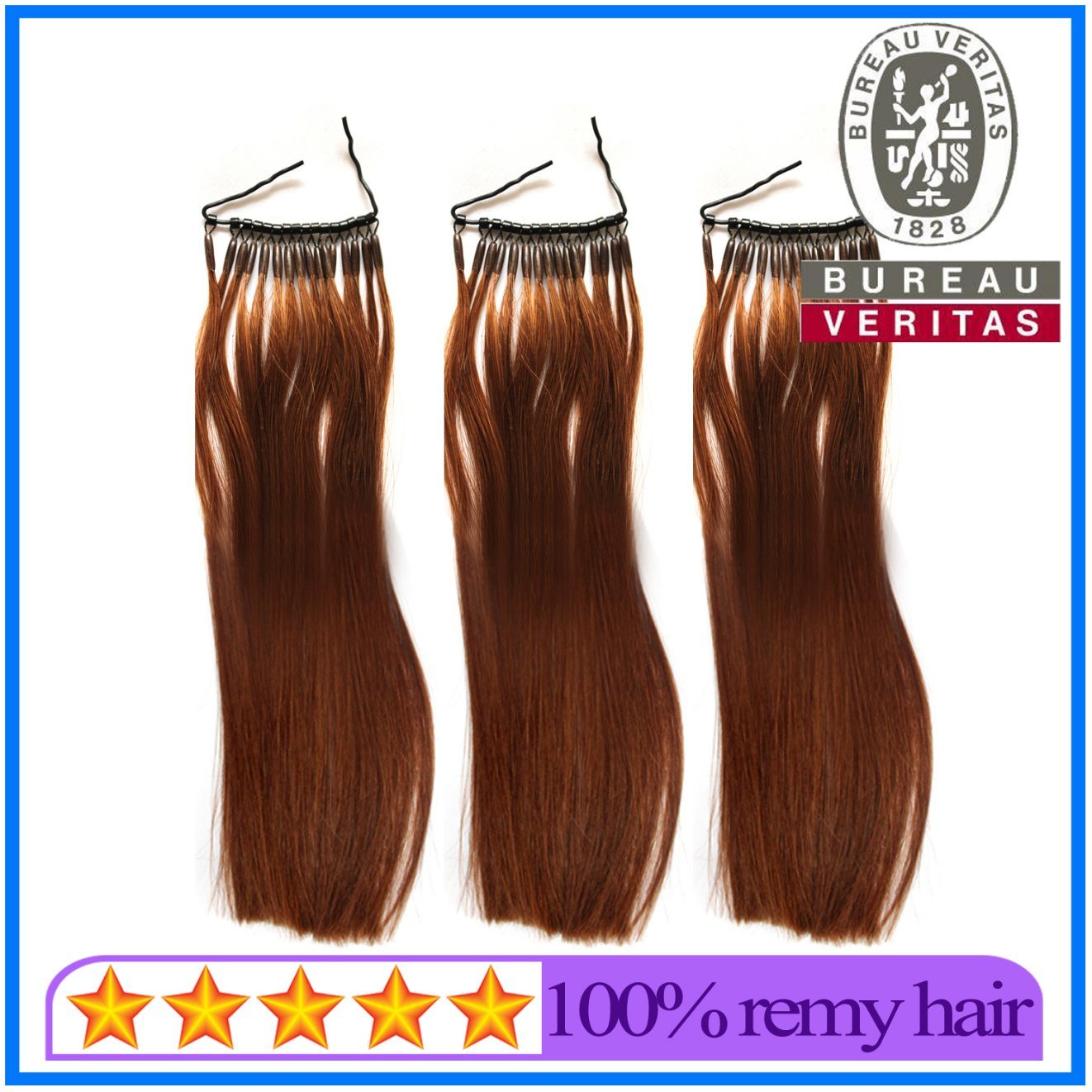 China New Black Brown Color Single Strand Micro Ring Hair Extensions