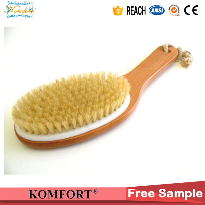 SPA Natural Bristle Bath Wood Foot Scrub Brush Japanese Body Brush pictures & photos