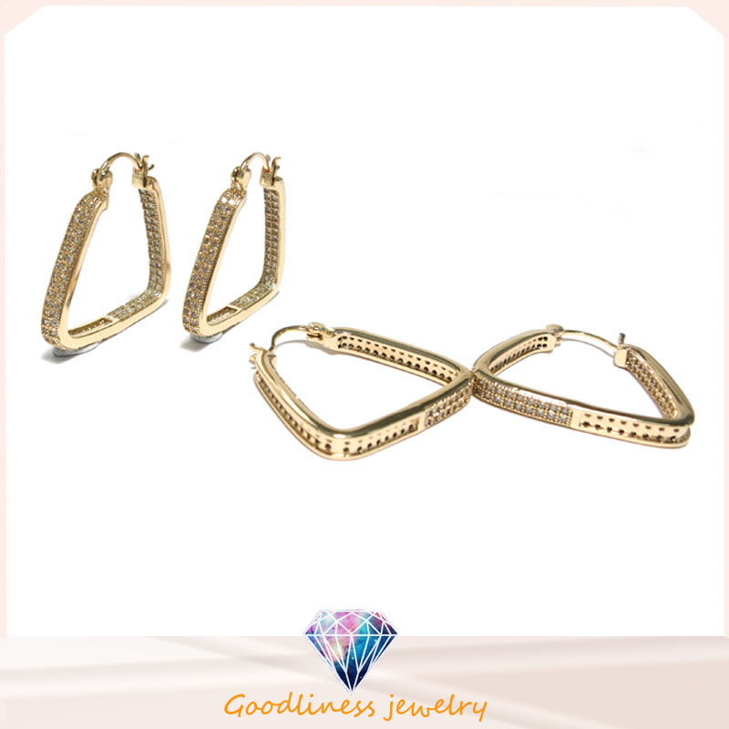 2017 Top Quality Fashion Jewelry Triangle 925 Silver Earring (E6824) pictures & photos