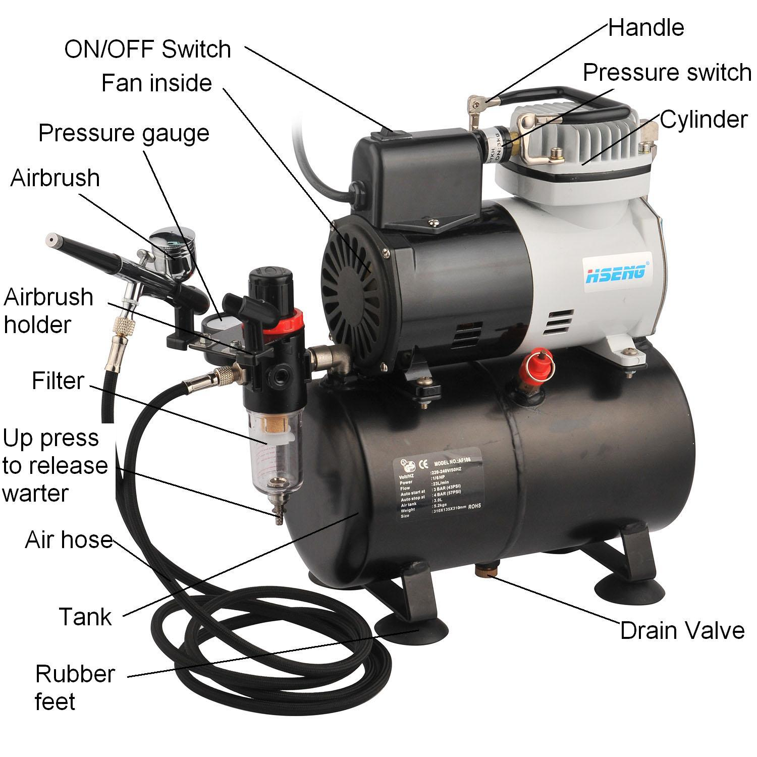 Af186k 2016 Best Selling Products Airbrush Compressor with Tank