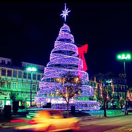 led outdoor light spiral christmas trees for holiday project - Spiral Christmas Tree Led