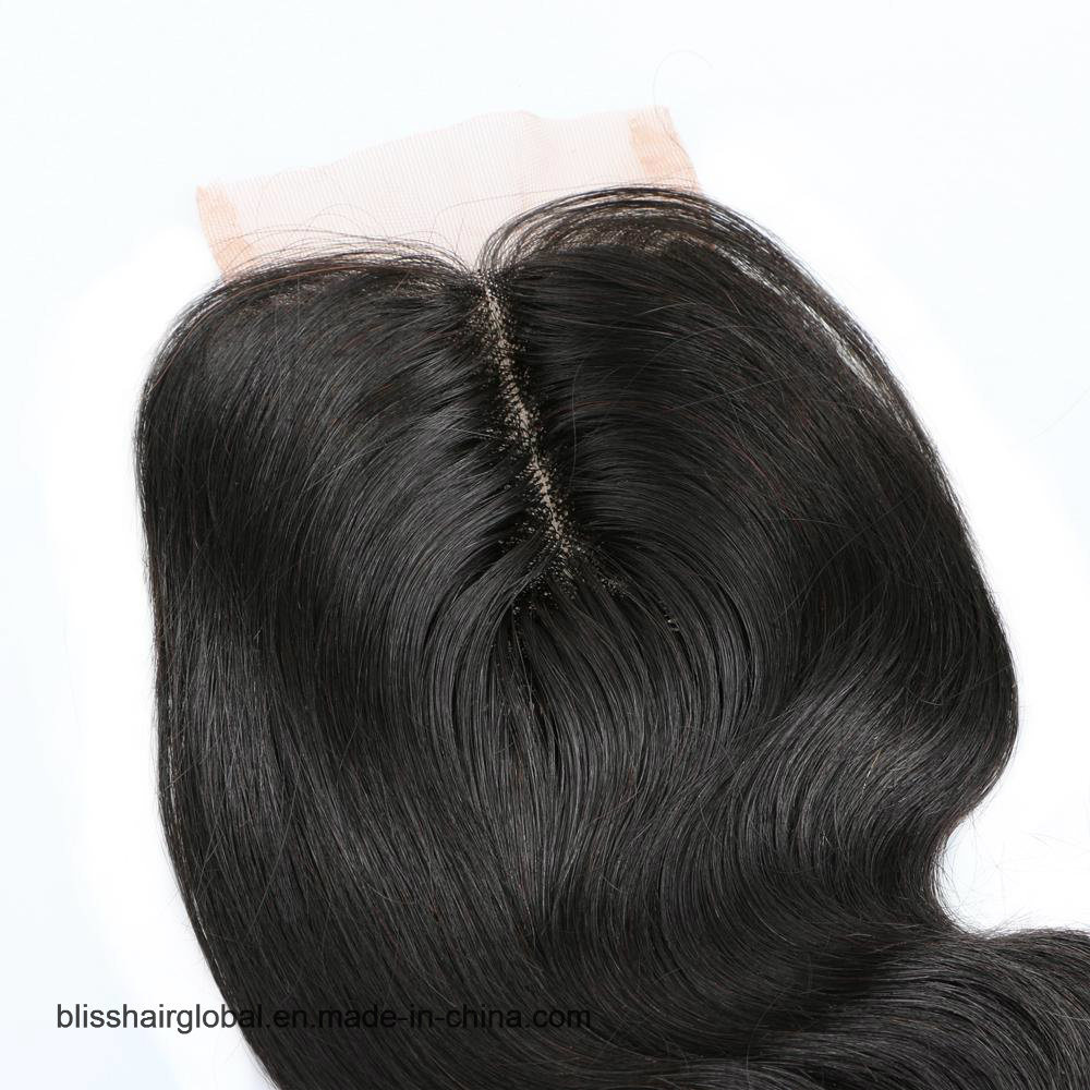 Bliss Hair 3.5X4 Lace Closure Hand Tied and Machine Middle Part Cheap Lace Closure Body Wave Indian Virgin Human Hair Closures Pieces pictures & photos
