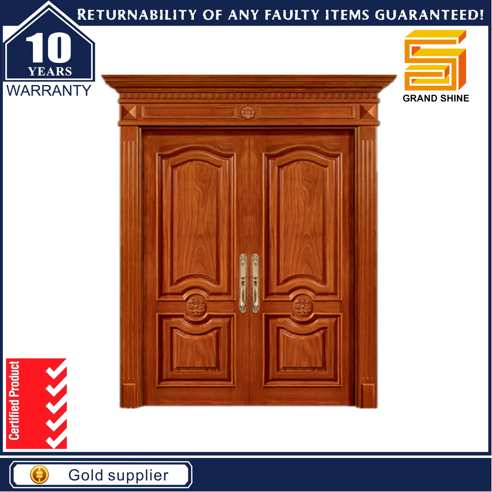 Building Material Double Panel Knotty