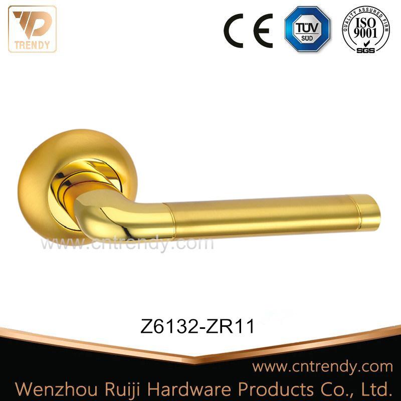 China Gold Color Zinc Zamak Hardware Lock Lever Door Handle (z6132 ...