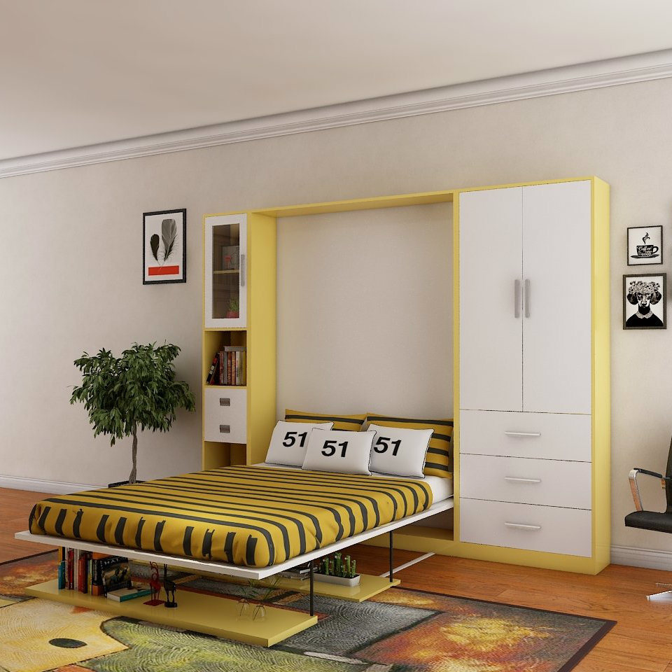 - China Put Down Wall Bed Hidden In Bookcase - China Sofa Wall Bed