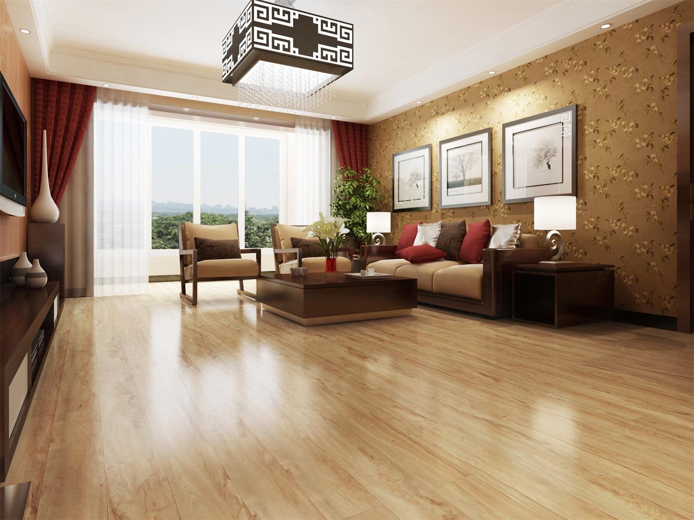 China Light Colour High Gloss Laminate Flooring Hight Floor