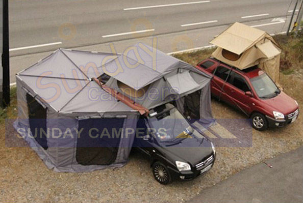 China Roof Top Tent With Foxwing Awning