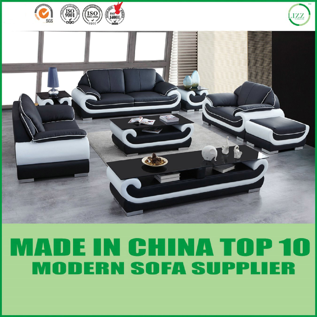 China Modern Sectional Furniture Miami Soft Leather Sofa - China ...