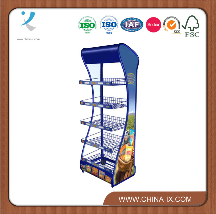 Customized Metal Wire Display Supermarket Rack