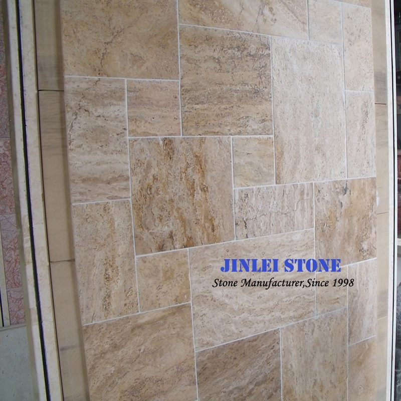 China Natural Stonecreambeigewhitecoffeerusty Yellow Travertine