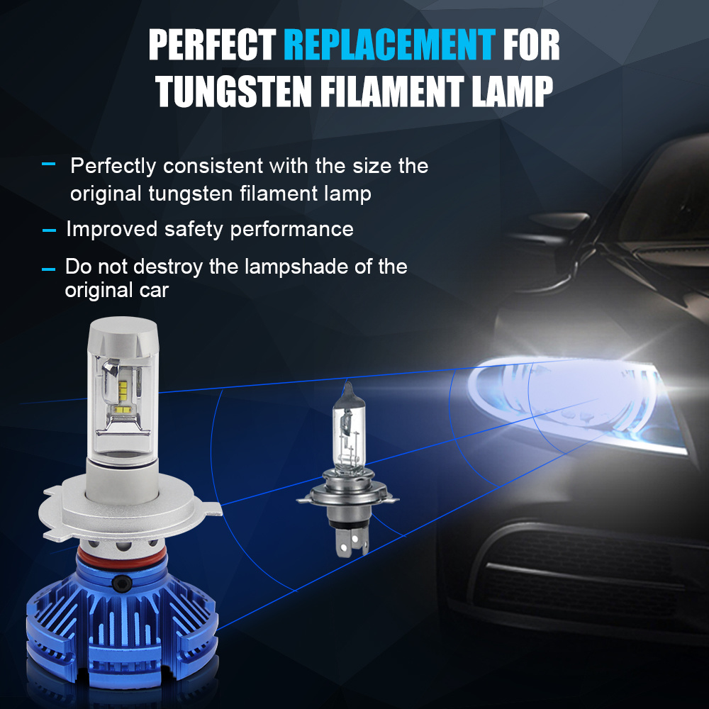 Led Replacement Headlight Bulbs >> China Newest X3 3000k 6500k 8000k 8000lm 55w Led Replacement