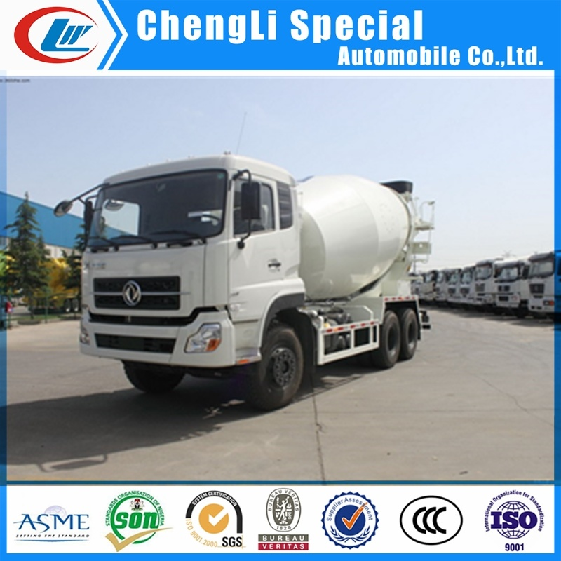 Dongfeng 12wheel Stir Barrel Concrete Mixer Truck for Cement Transport pictures & photos