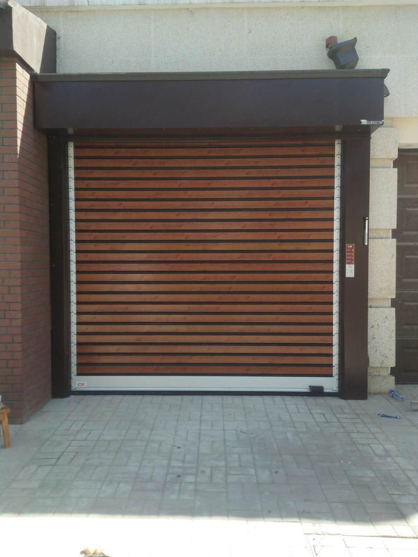 china fast speed roll up garage door / burglarproof door