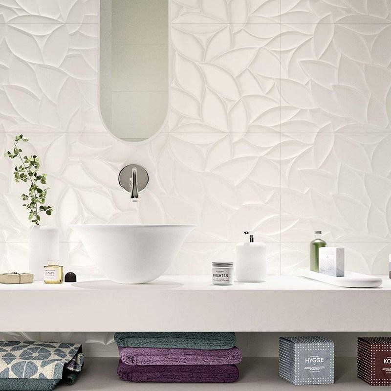 China Glossy White 12x24 Inch 300x600mm Interior Decorative Wave Ceramic Wall Tiles China 30 60 White Ceramic Wall Tile White Wave Glossy Tile