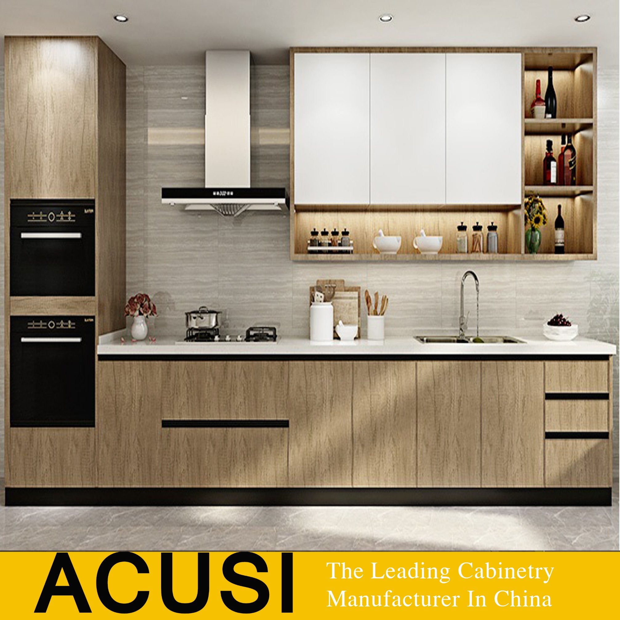 China 9 Newly Home Furniture Wooden Lacquer Kitchen Cabinet ...