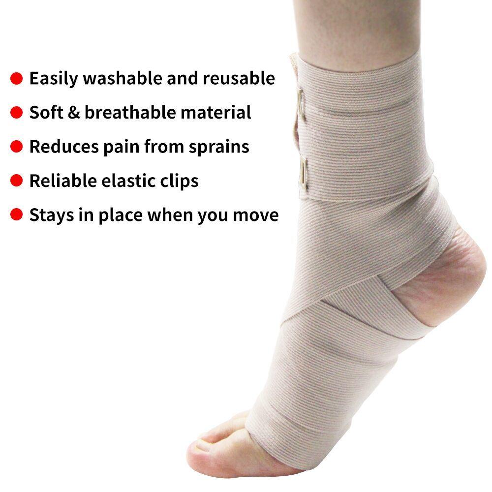 China 4 Sizes Soft Compression Crepe Bandages Elastic Bandage