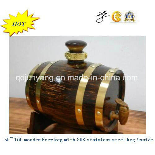 Wooden Beer Kegs with SUS Inner Tank