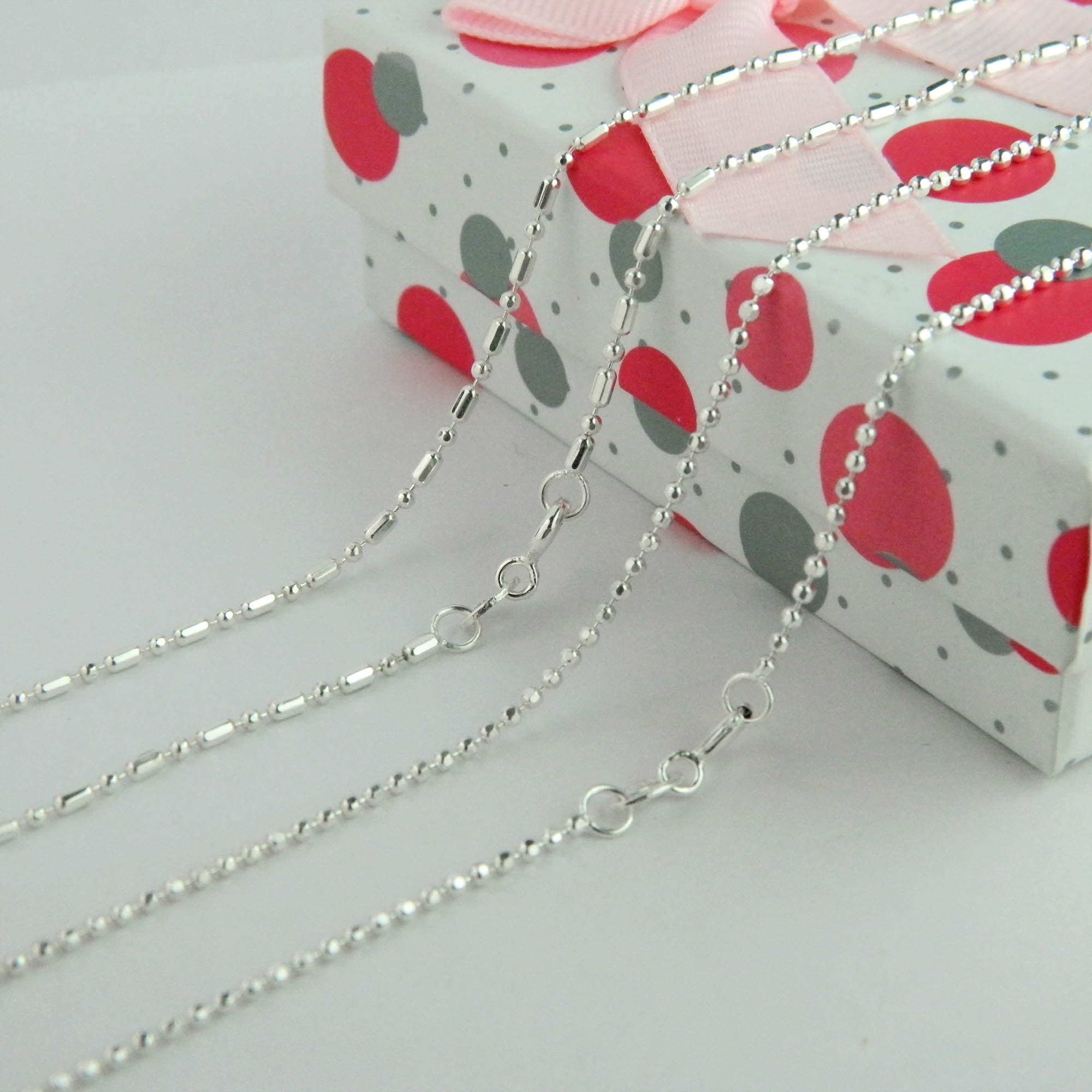 Bead Chain, 925 Silver Ball Chain, Fashion Jewelry Necklace