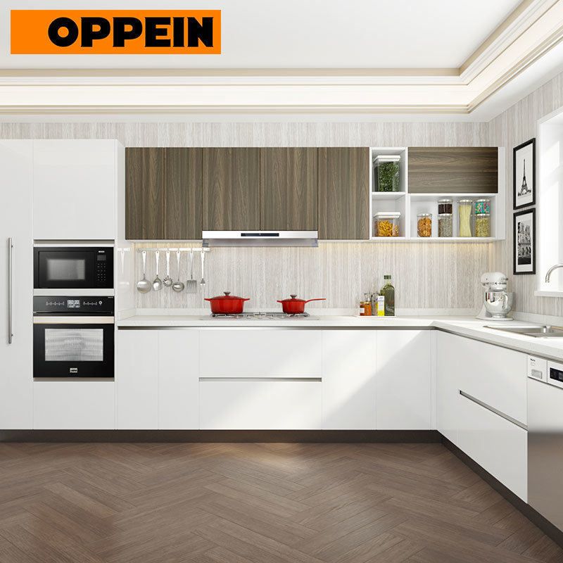China Oppein Mauritius Residential Project Laminate U Shaped Kitchen Cabinets Op18 Hpl04 China Mauritius Kitchen Cabinet Residential Kitchen Cabinet
