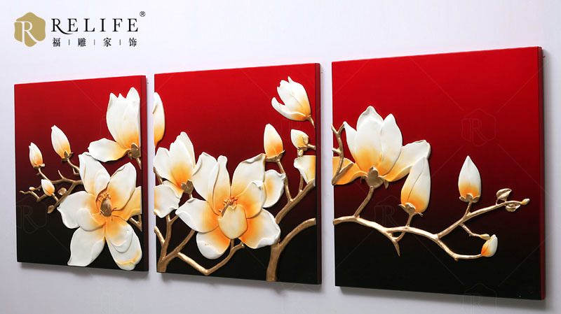 Hot Item 3d Home Decorative Flowers Design Wall Oil Painting