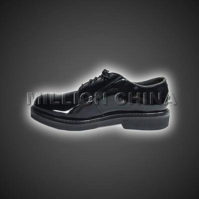 2017 New Design Black Shiny Official Shoe for Men pictures & photos