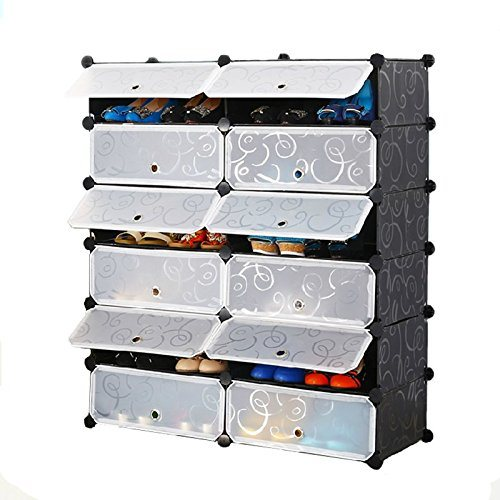 tier bookcases storage dp closet cabinet shelf bookcase fabric cube plastic bookshelf hblife organizer