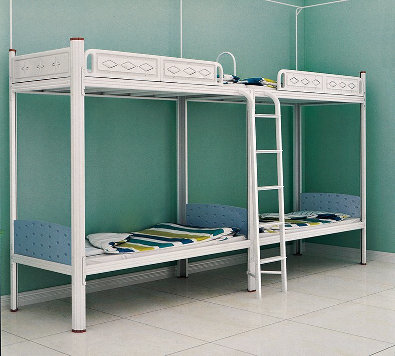 China High Quality Metal Bunk Beds School Furniture With Bed Guardrail China Student Bed Bunk Bed