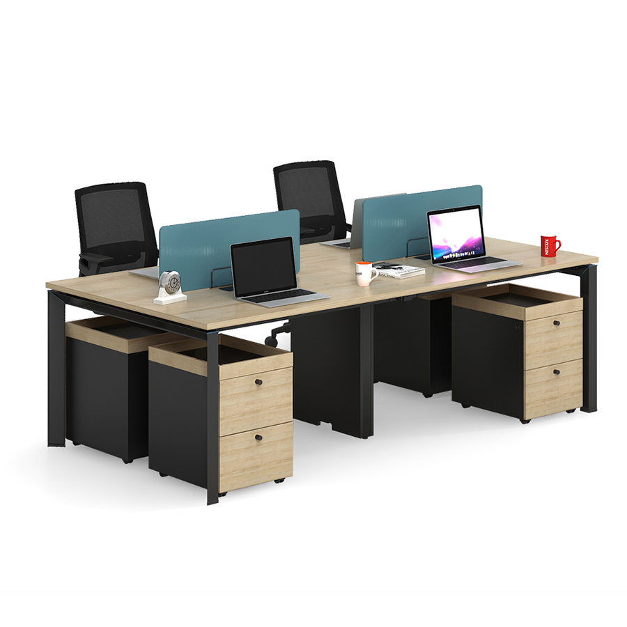 [Hot Item] Melamine Table Top 366 Seater Office Desk with 36 Drawer Cabinet