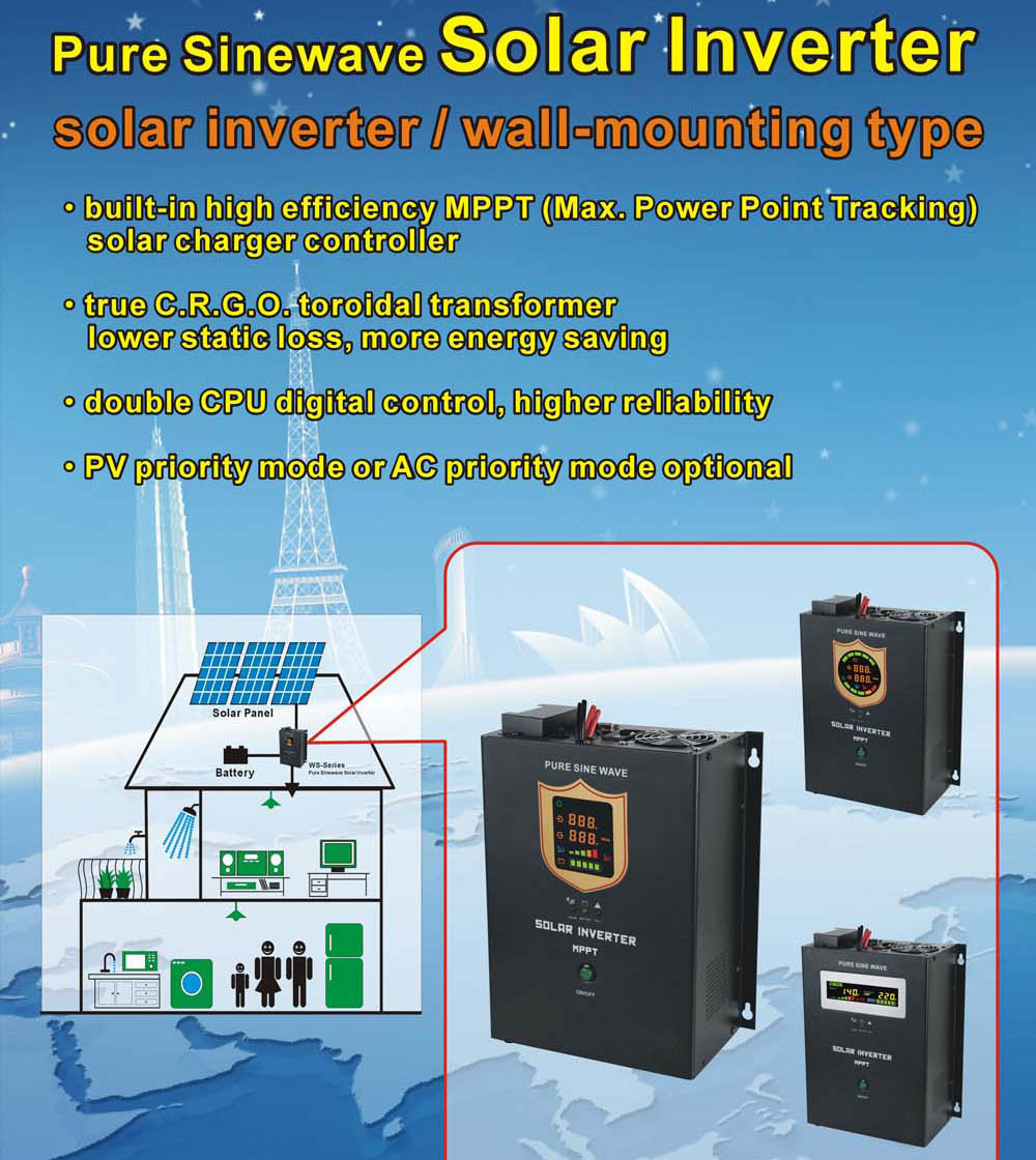 China 12 24 48vdc Hybrid Solar Inverter With 60a Max Charger 12v Power Supply Circuit Diagram Controller Off Grid